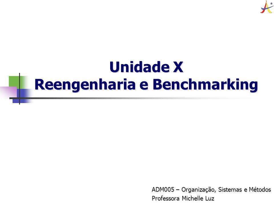 Unidade X Reengenharia e Benchmarking
