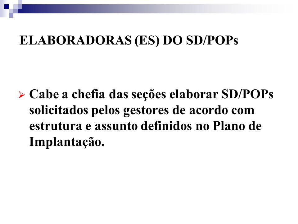 ELABORADORAS (ES) DO SD/POPs