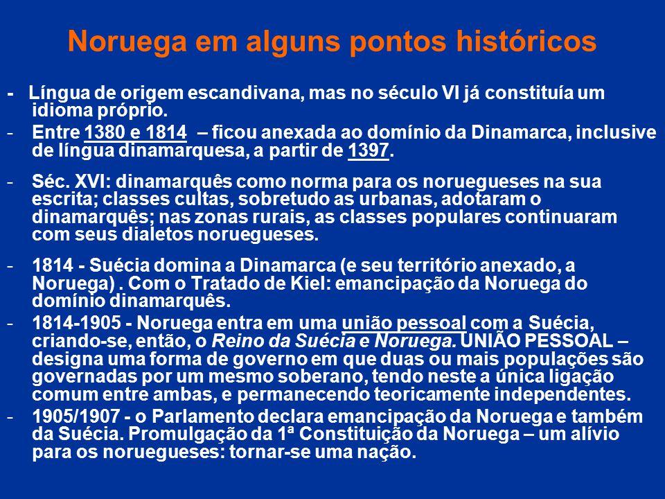 Noruega em alguns pontos históricos