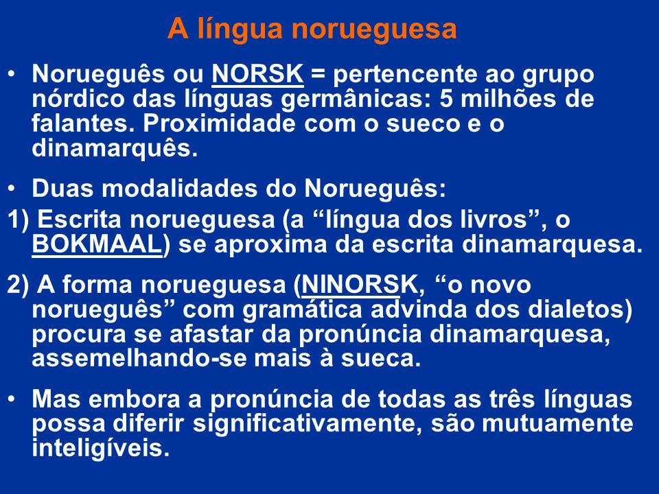 A língua norueguesa