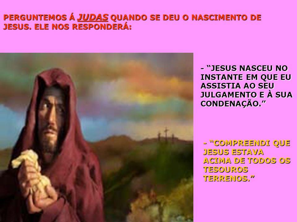 PERGUNTEMOS Á JUDAS QUANDO SE DEU O NASCIMENTO DE JESUS