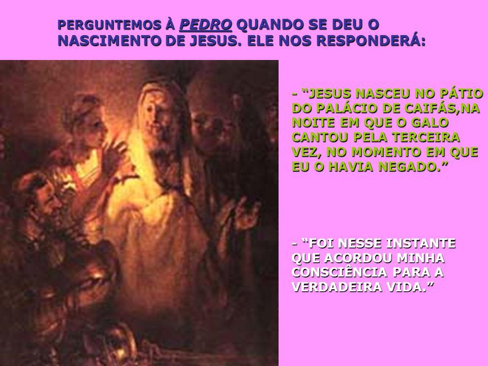 PERGUNTEMOS À PEDRO QUANDO SE DEU O NASCIMENTO DE JESUS