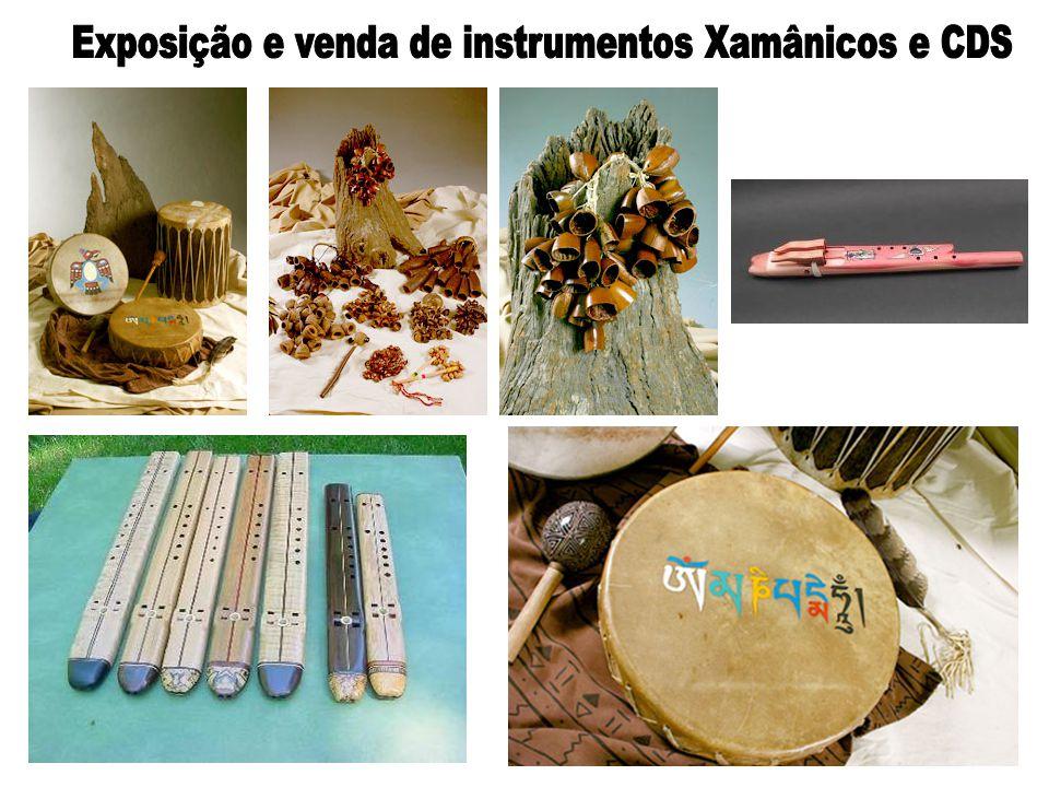 Exposição e venda de instrumentos Xamânicos e CDS