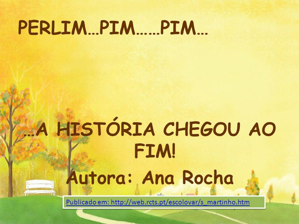 …A HISTÓRIA CHEGOU AO FIM! Autora: Ana Rocha