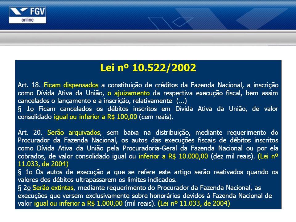 Lei nº 10.522/2002