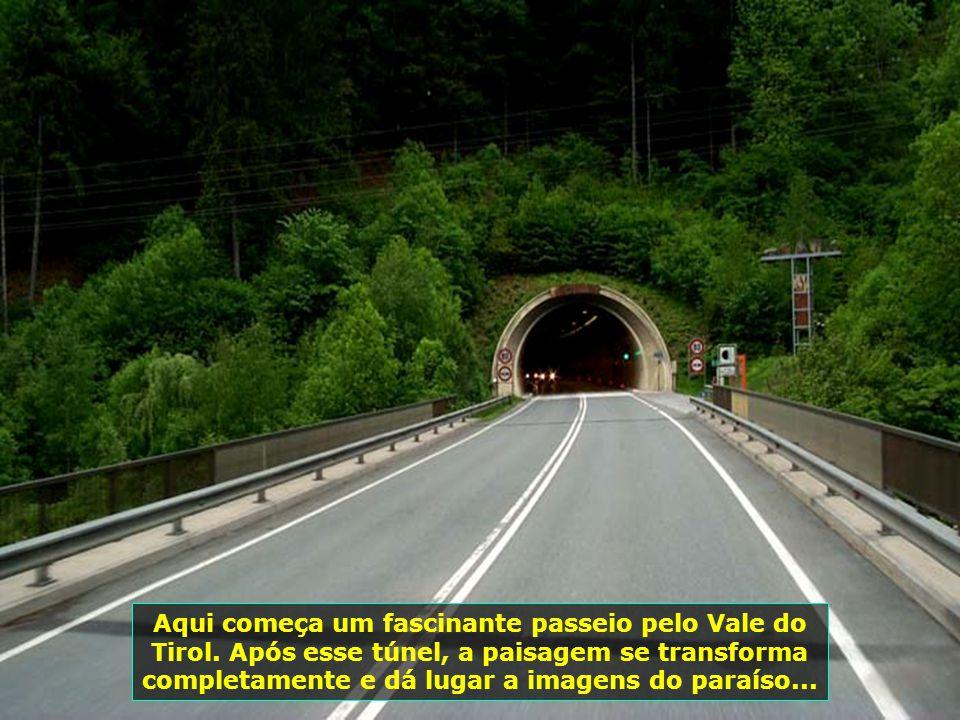 Aqui começa um fascinante passeio pelo Vale do Tirol