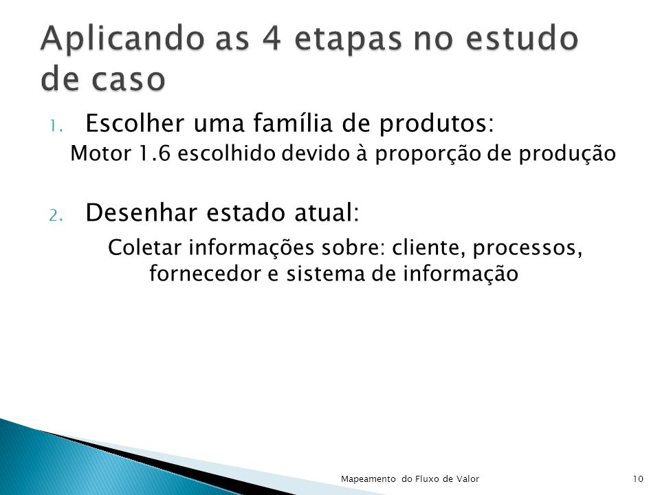 Aplicando as 4 etapas no estudo de caso