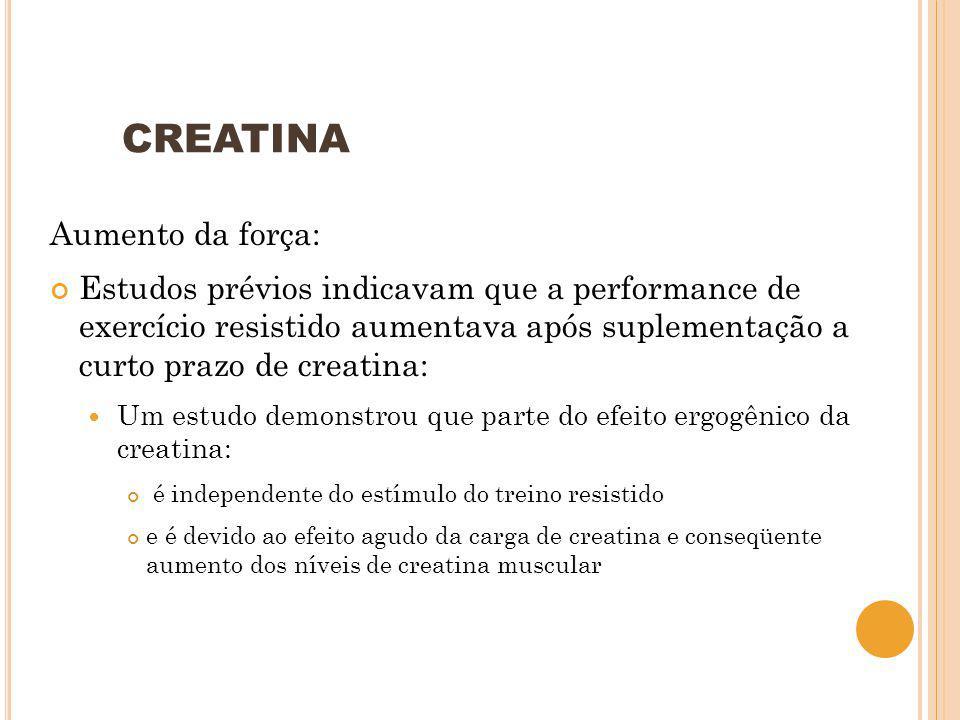 CREATINA Aumento da força: