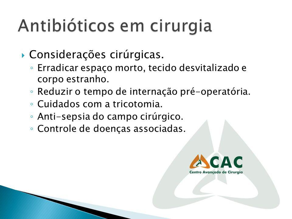 Antibióticos em cirurgia