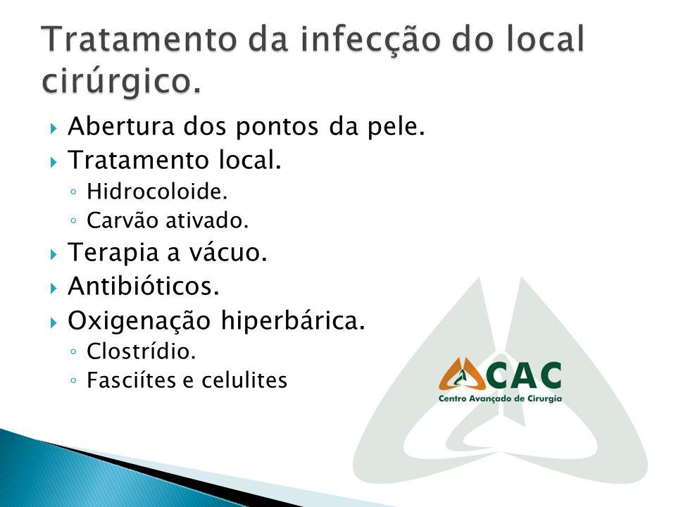 Tratamento da infecção do local cirúrgico.