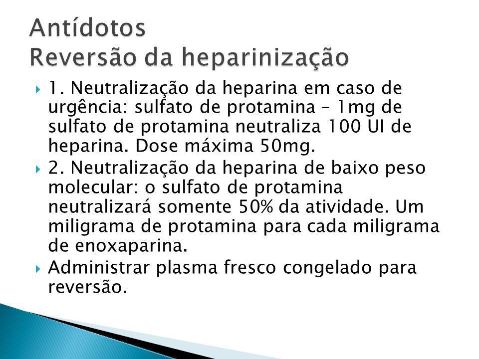 Antídotos Reversão da heparinização