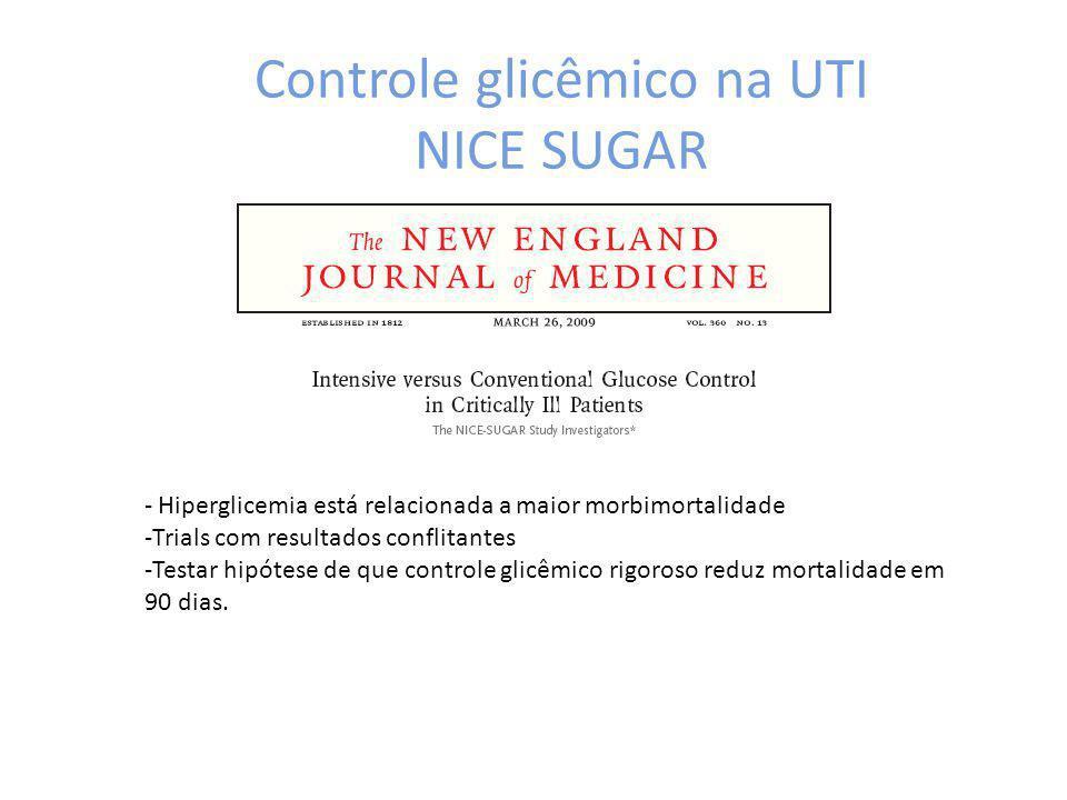 Controle glicêmico na UTI NICE SUGAR