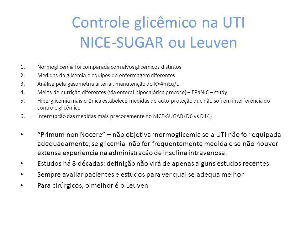 Controle glicêmico na UTI NICE-SUGAR ou Leuven