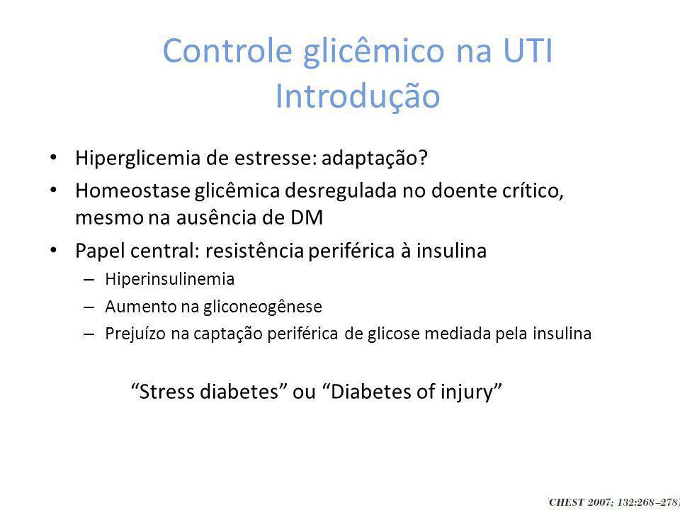 Controle glicêmico na UTI Introdução
