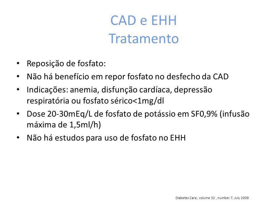 CAD e EHH Tratamento Reposição de fosfato: