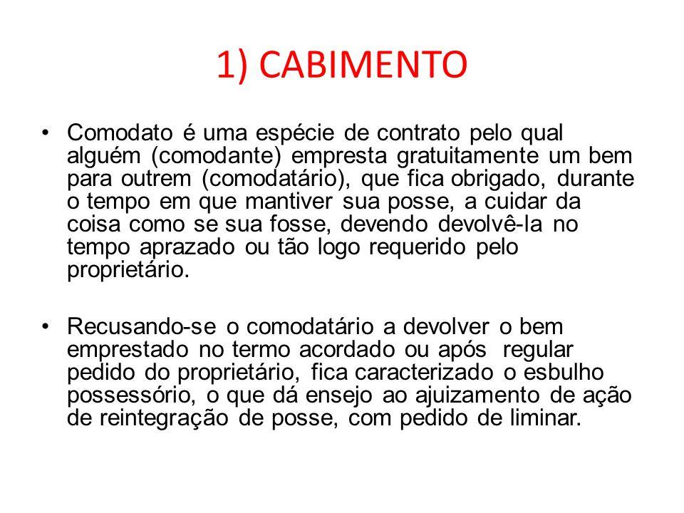 1) CABIMENTO
