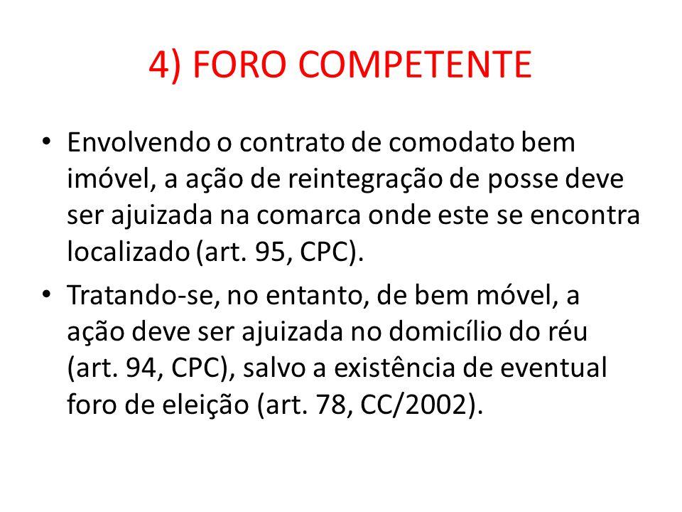 4) FORO COMPETENTE