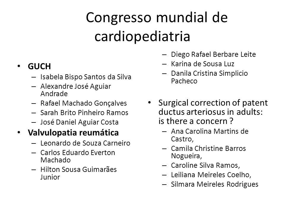 Congresso mundial de cardiopediatria