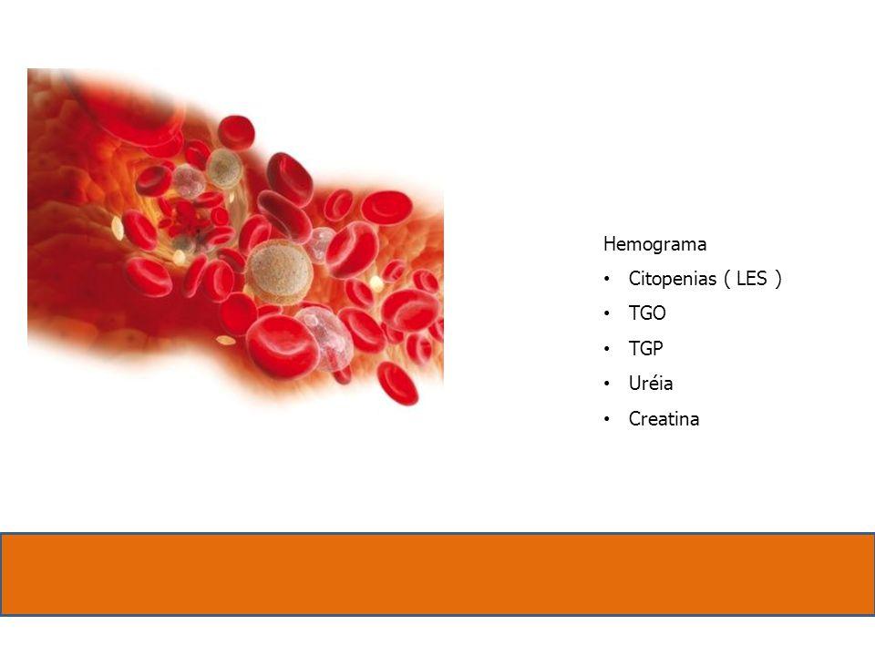 Hemograma Citopenias ( LES ) TGO TGP Uréia Creatina