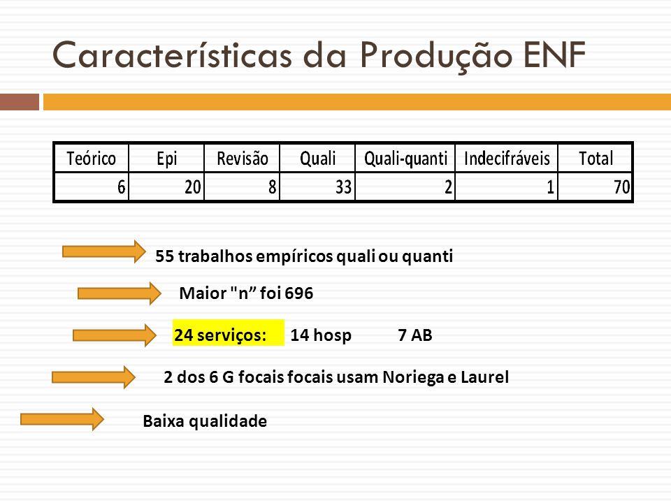 Características da Produção ENF