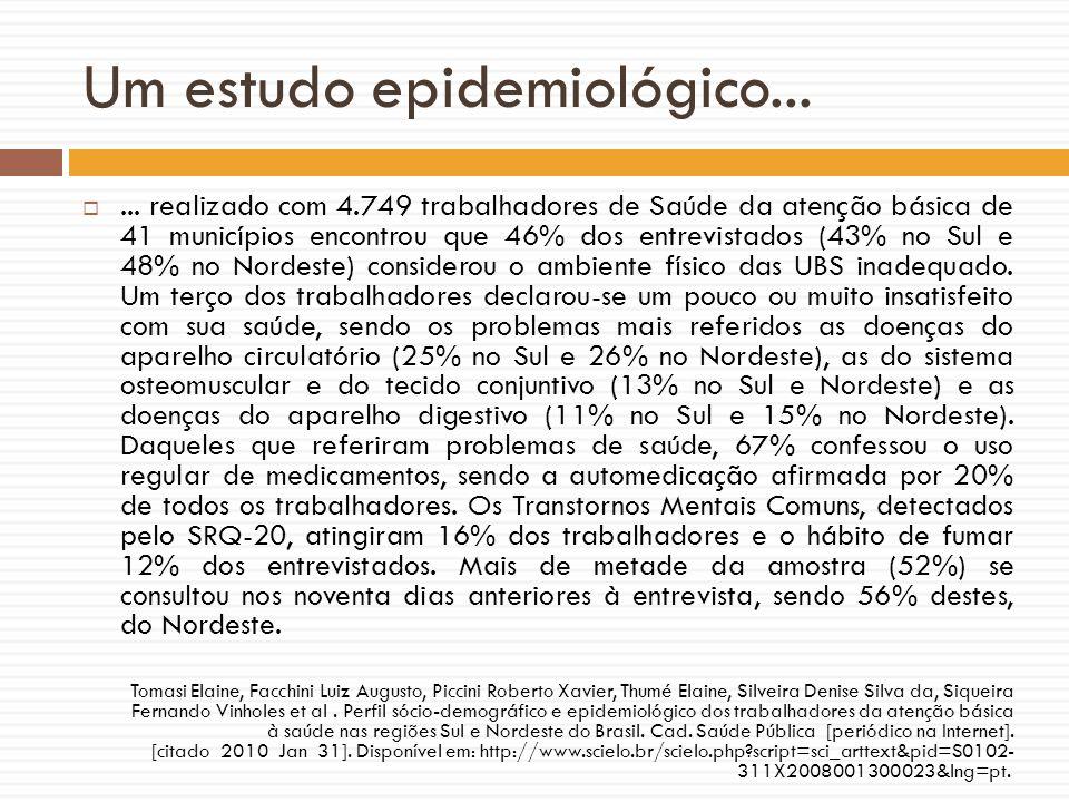Um estudo epidemiológico...