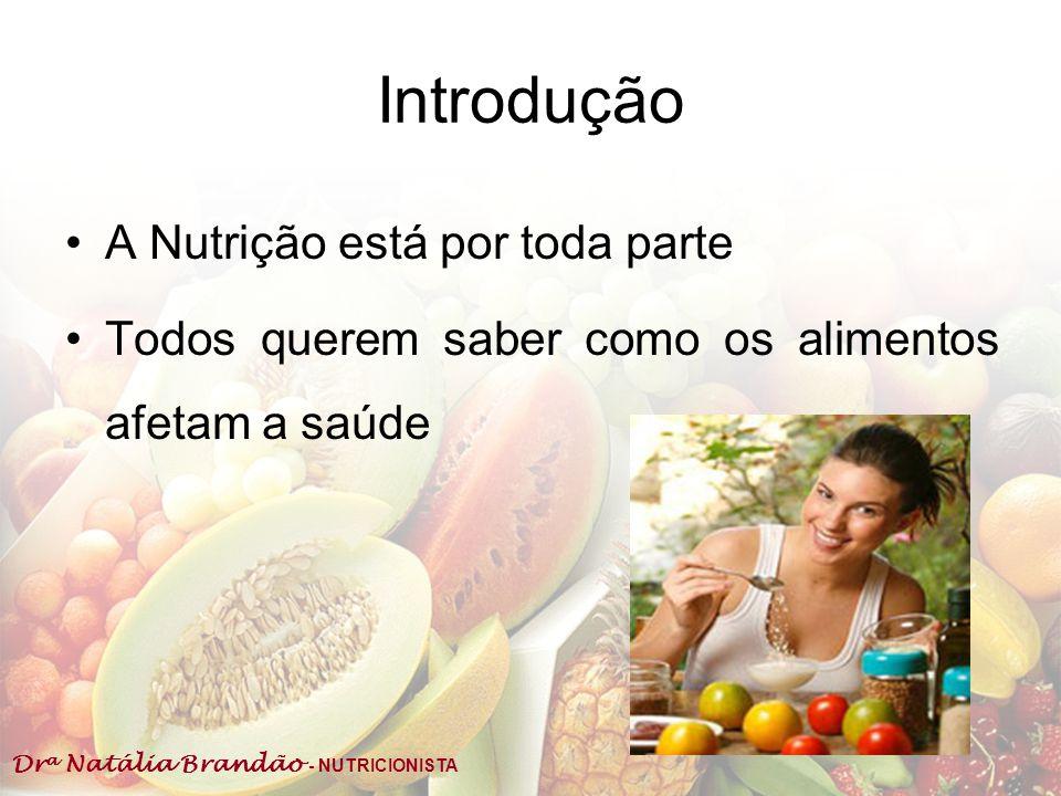Introdução A Nutrição está por toda parte