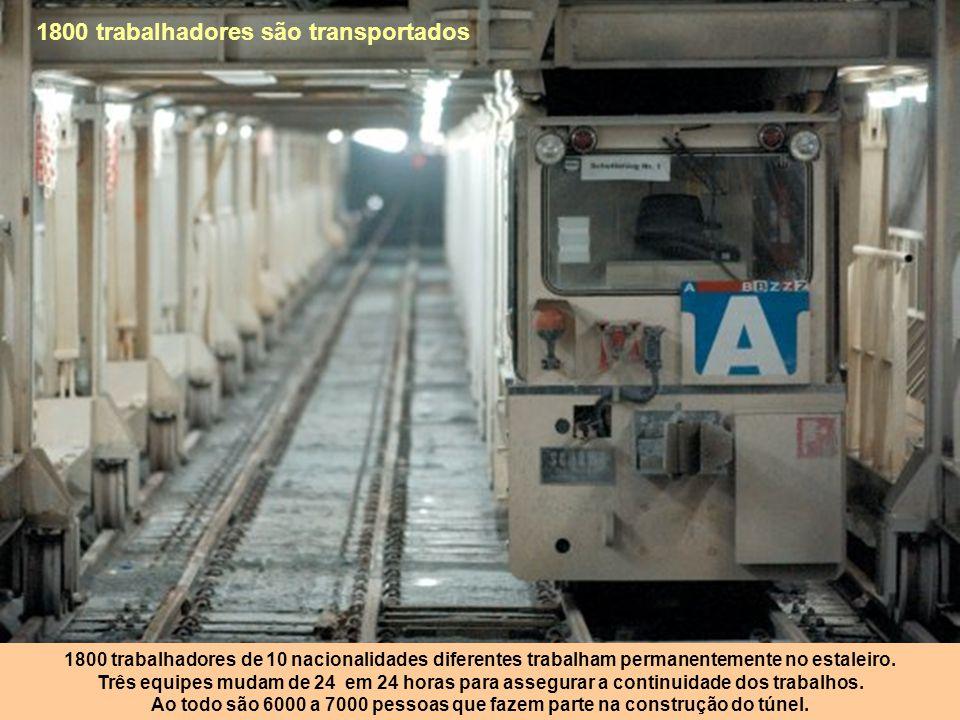 1800 trabalhadores são transportados