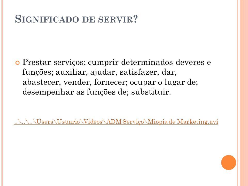 Significado de servir