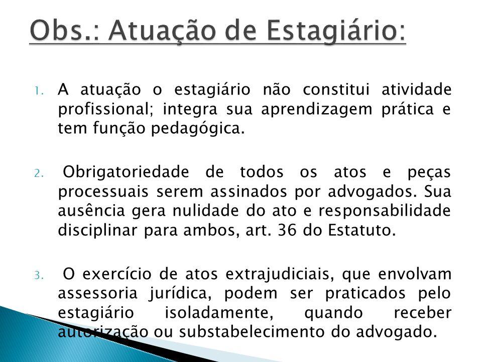 Obs.: Atuação de Estagiário:
