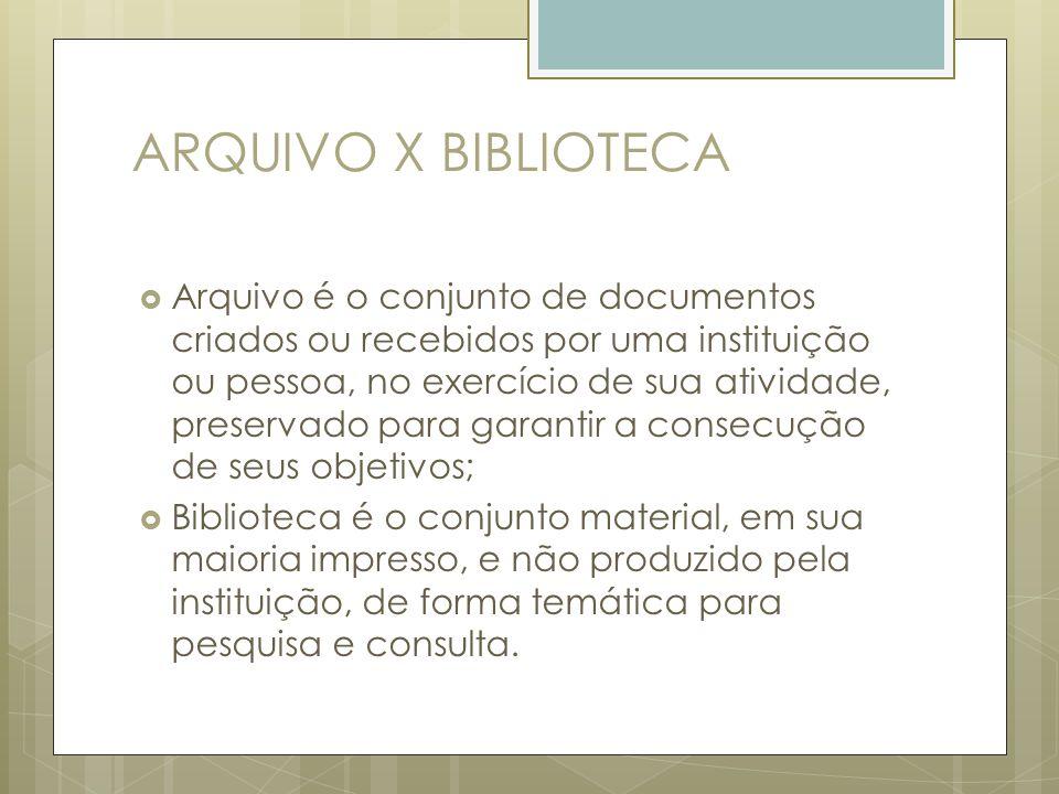 ARQUIVO X BIBLIOTECA