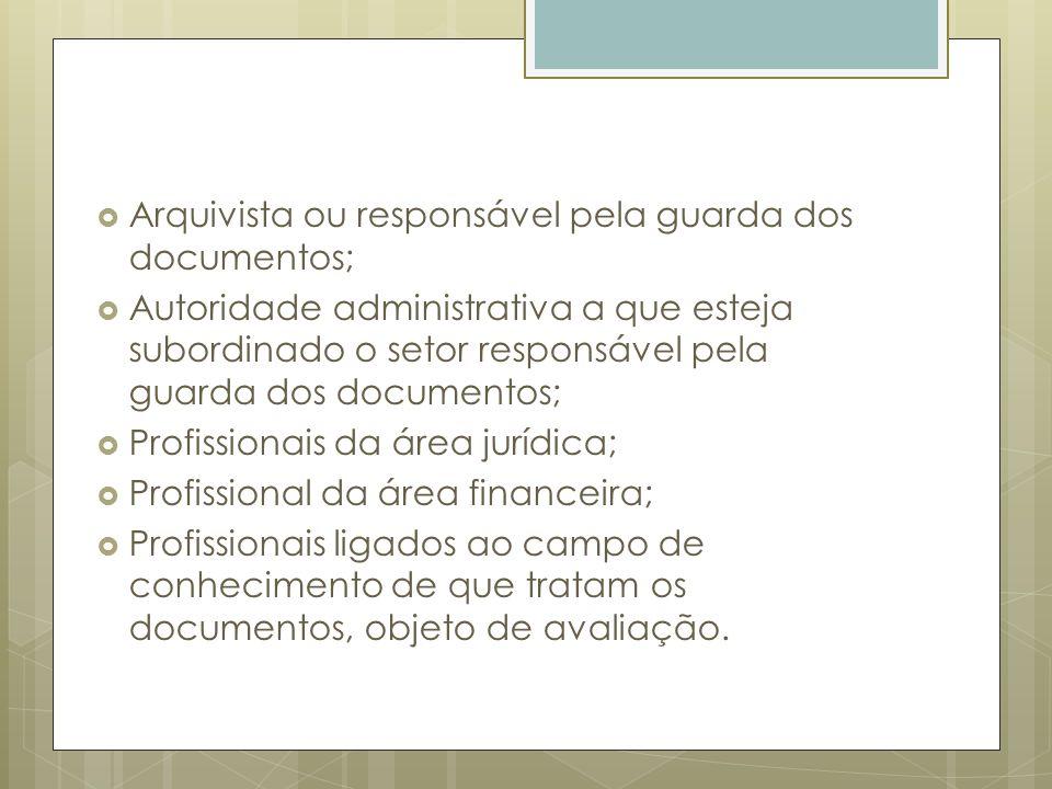Arquivista ou responsável pela guarda dos documentos;
