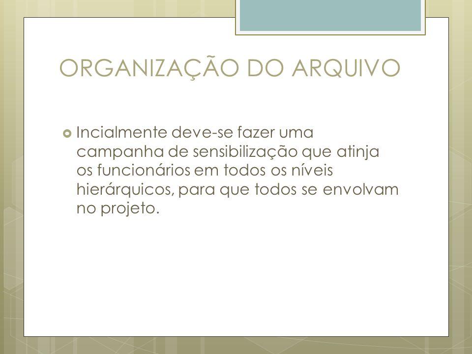ORGANIZAÇÃO DO ARQUIVO