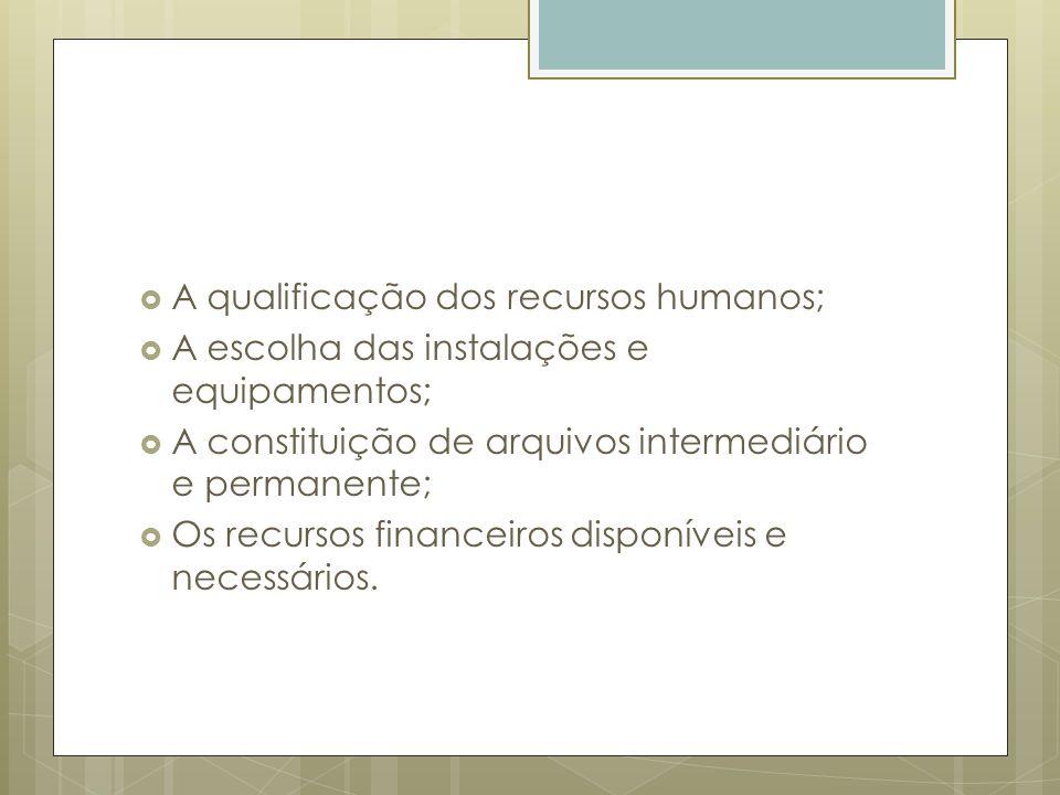 A qualificação dos recursos humanos;