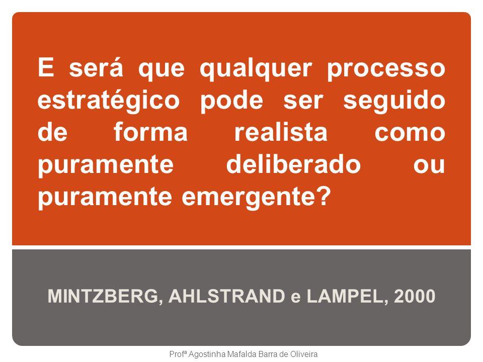 MINTZBERG, AHLSTRAND e LAMPEL, 2000