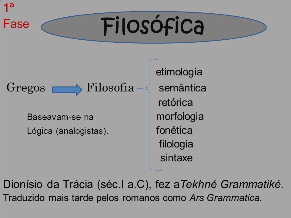 Filosófica 1ª Fase etimologia Gregos Filosofia semântica