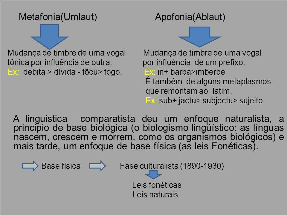 Metafonia(Umlaut) Apofonia(Ablaut)