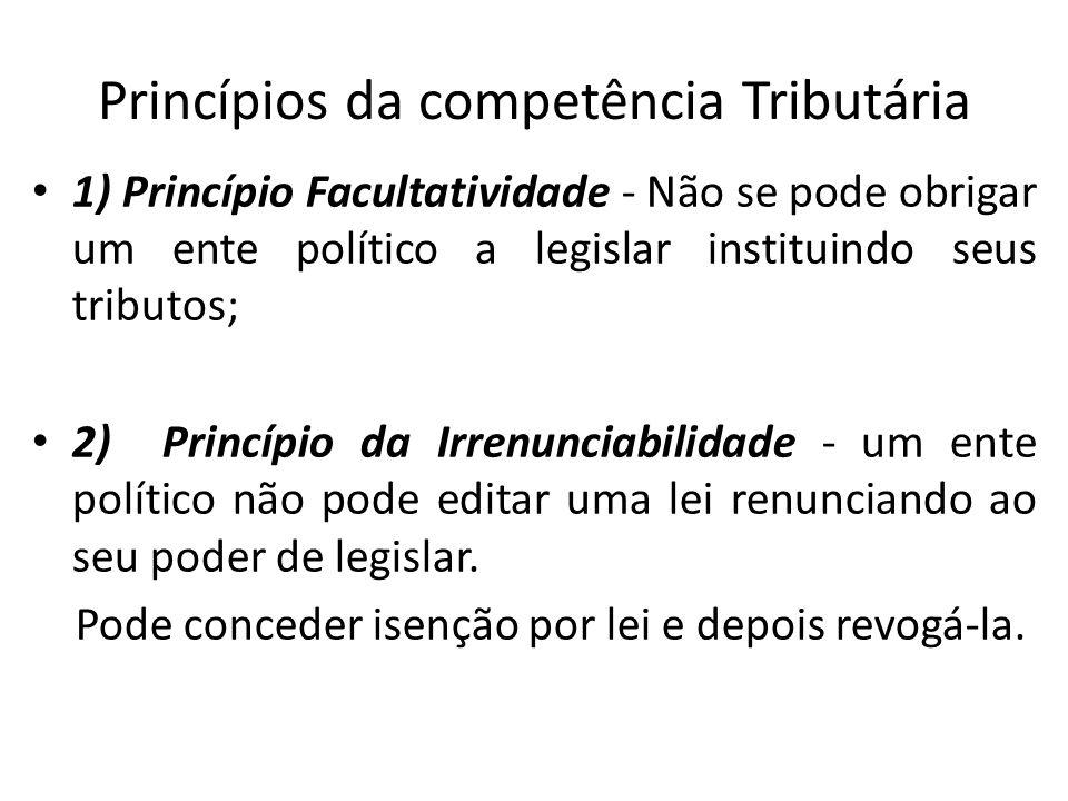 Princípios da competência Tributária