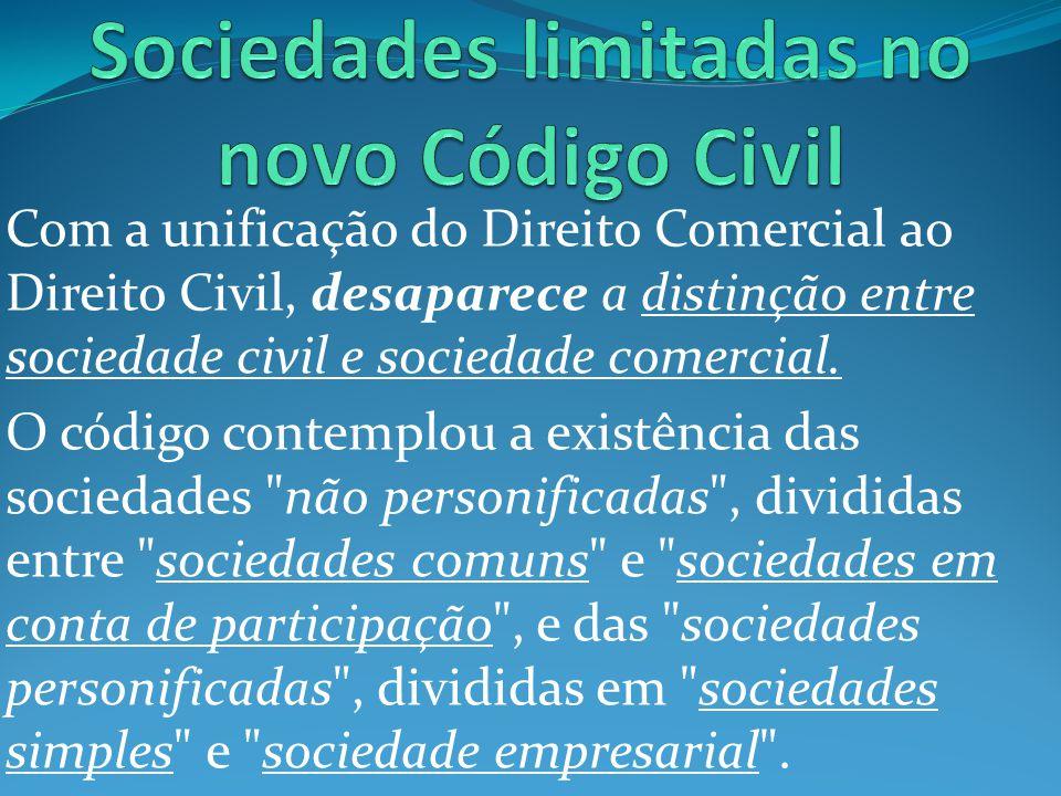 Sociedades limitadas no novo Código Civil