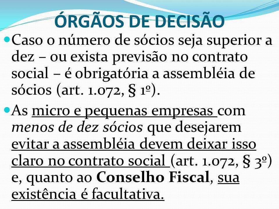 ÓRGÃOS DE DECISÃO