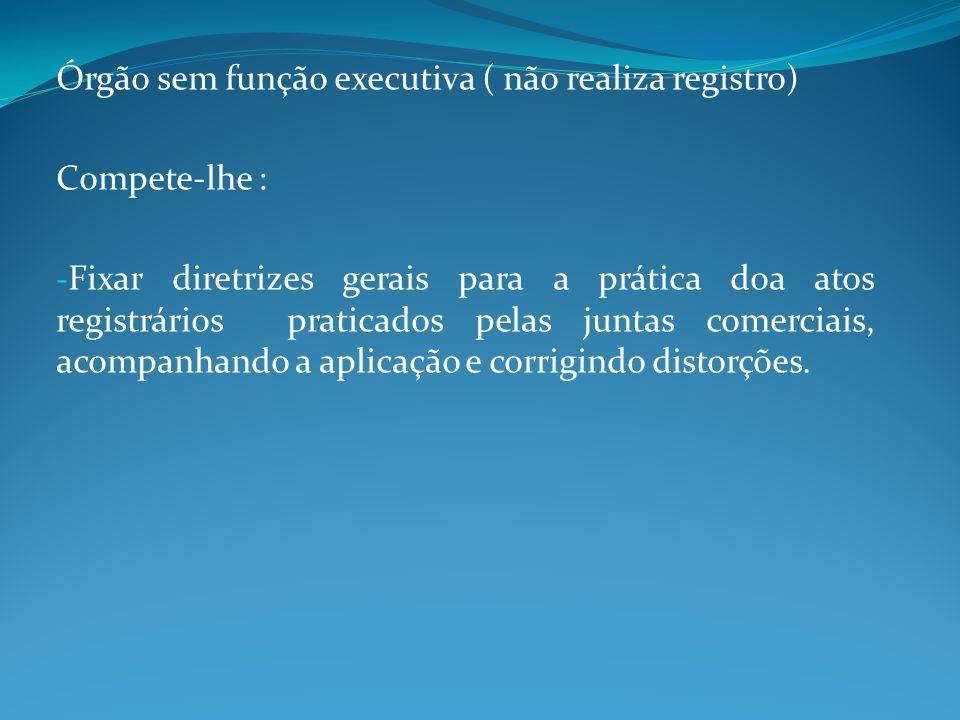 Órgão sem função executiva ( não realiza registro)