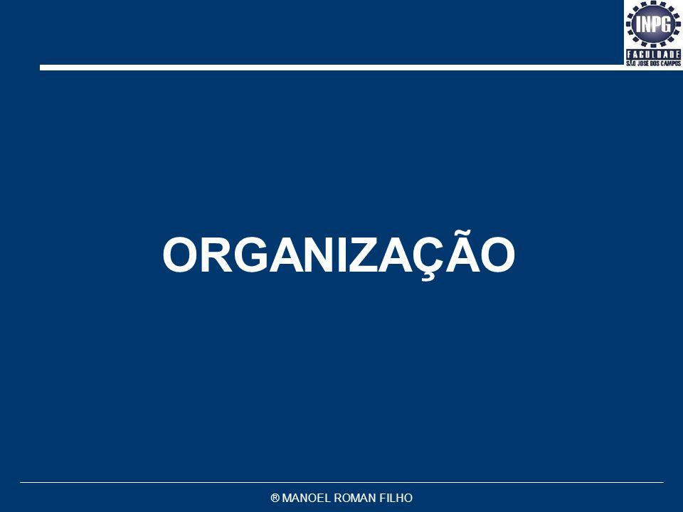 ORGANIZAÇÃO ® MANOEL ROMAN FILHO