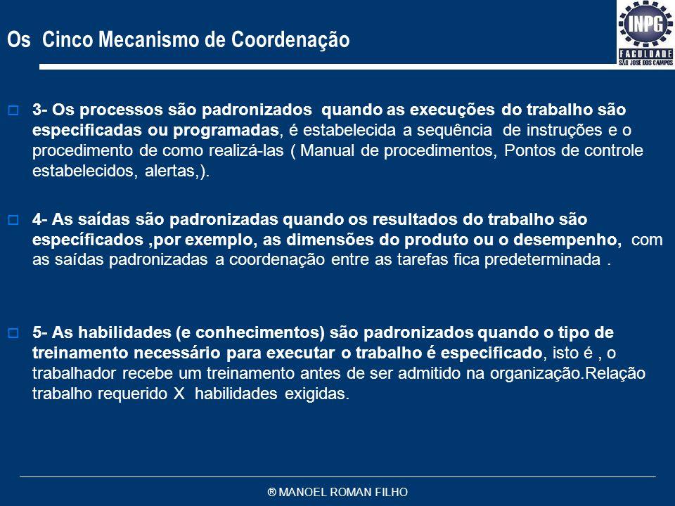 Os Cinco Mecanismo de Coordenação