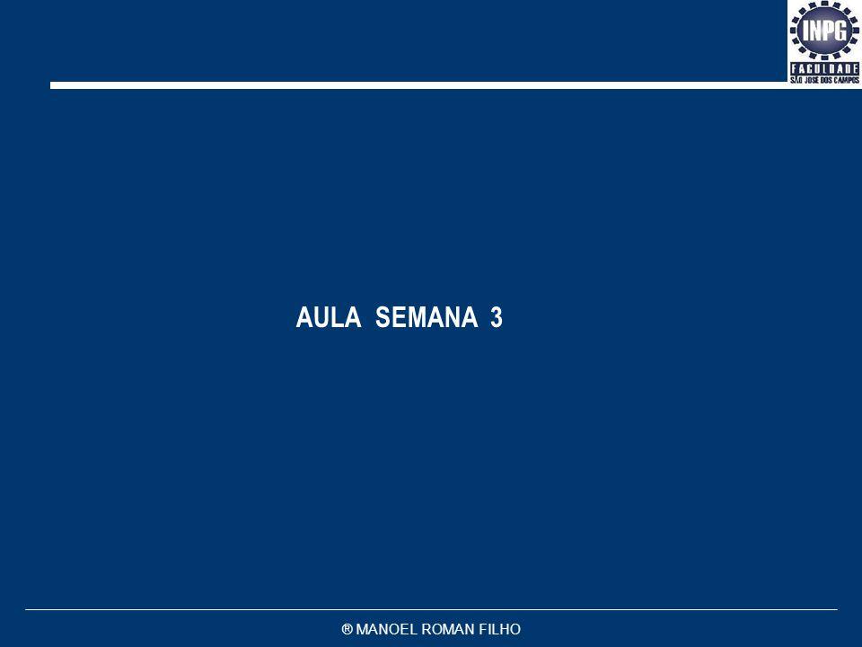 AULA SEMANA 3 ® MANOEL ROMAN FILHO