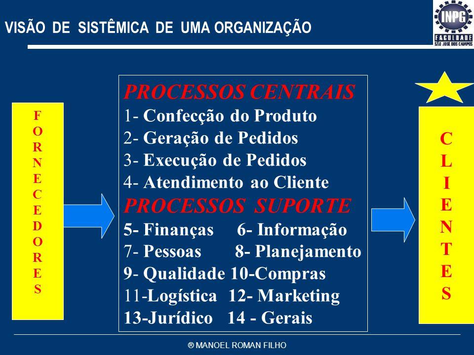 VISÃO DE SISTÊMICA DE UMA ORGANIZAÇÃO
