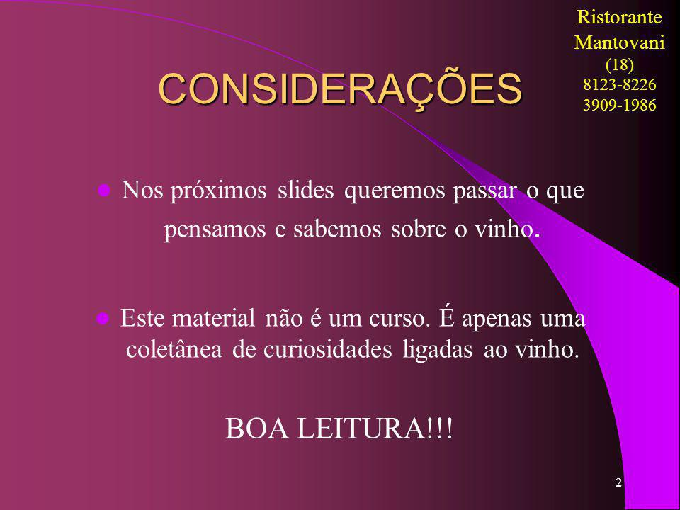 CONSIDERAÇÕES BOA LEITURA!!!