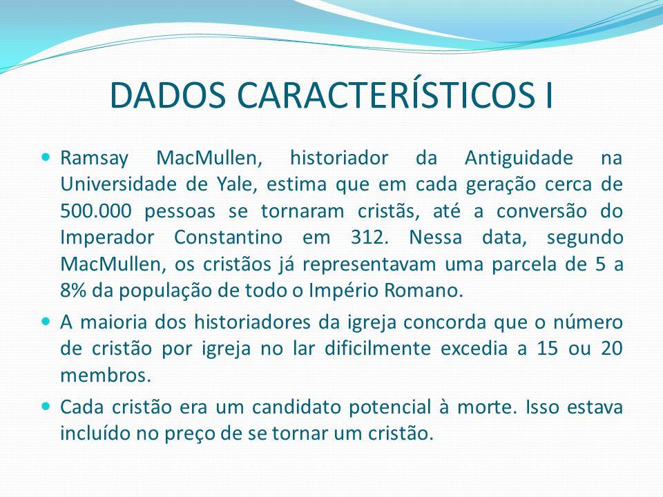 DADOS CARACTERÍSTICOS I