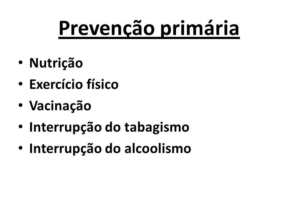 Prevenção primária Nutrição Exercício físico Vacinação