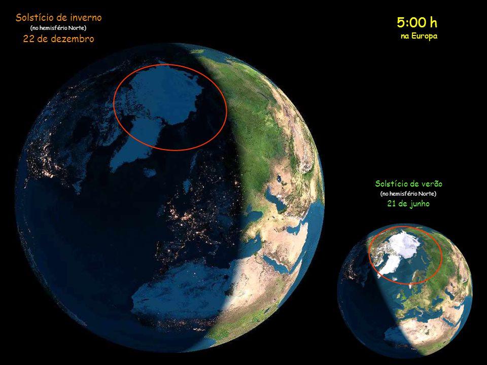 5:00 h Solstício de inverno 22 de dezembro na Europa