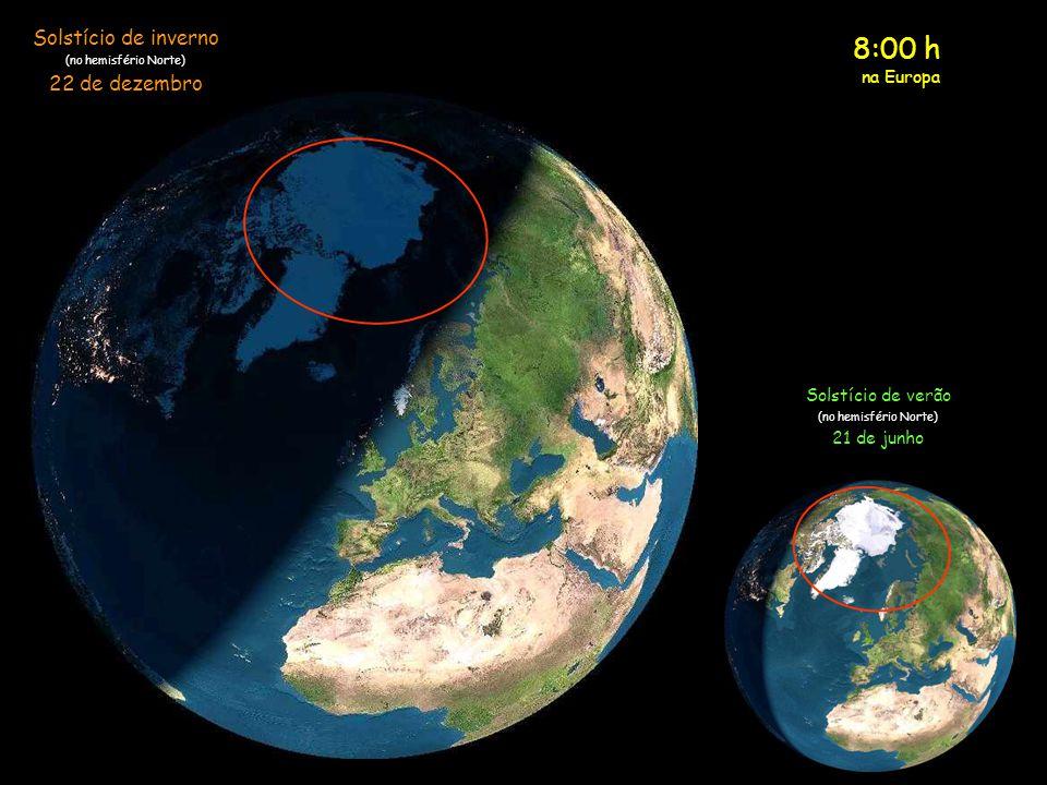 8:00 h Solstício de inverno 22 de dezembro na Europa