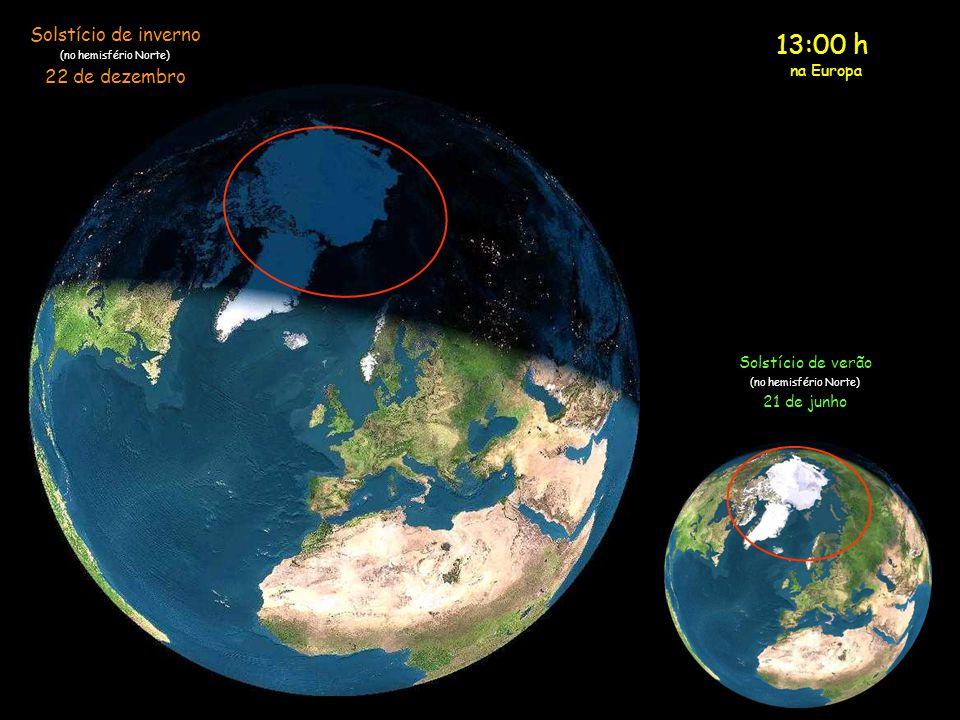 13:00 h Solstício de inverno 22 de dezembro na Europa